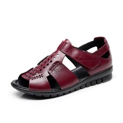 Hollow Leather Comfortable Sandals