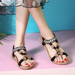Flower Rhinestone Opened Toe Sandals