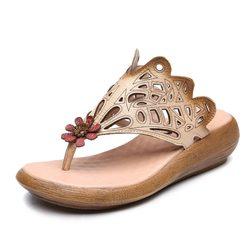 Handmade Cow Leather Retro Sandals