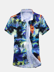 Beach Printing Hawaiian Shirts