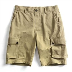 100% Cotton Multi-pocket Cargo Shorts