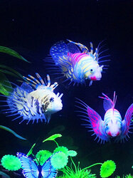 Glow In The Dark Artificial Aquarium Lionfish Ornament Fish