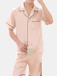 Breathable Luxury Stain Ice Silk Pajamas