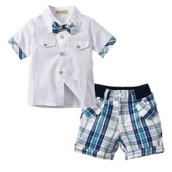 2Pcs Boys Plaid Clothing Set