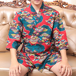 Soft Printing Long Sleeve  Pajamas