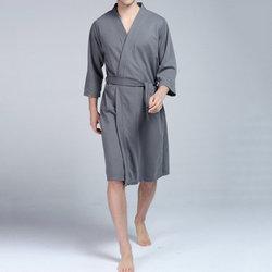 Home Soft Drawstring Pockets Bathrobes Sleep Robes