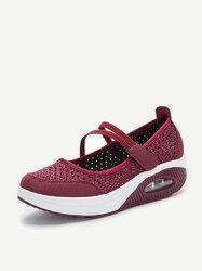 Soft Mesh Hook Loop Shake Shoes