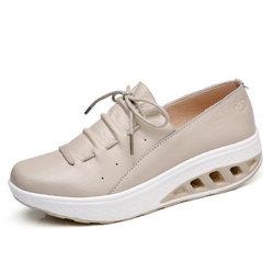 Leather Lace Up Platform Shoes