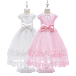 Category: Dropship Kids & Mom, SKU #SKU999147, Title: Lace Sweet Girls Dress 4Y-15Y