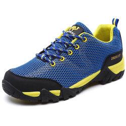 Men Mesh Fabric Hiking Sneakers