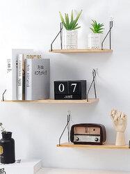 Wall Shelf Household Wooden Hanging Holder