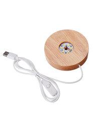 Circular Lampholder Solid Wood USB Interface Trophy Laser