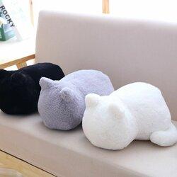 Short Plush PP Cotton Stuffed Cat Pillow