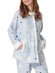 Category: Dropship Kids & Mom, SKU #SKUA86324, Title: Printed Maternity Nursing Pajamas Set