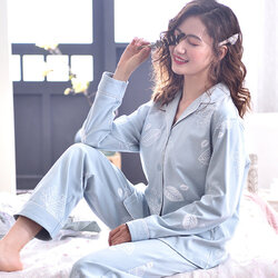 Cotton Long-sleeved Thin Section Home Service Suit