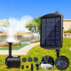 <US Instock> 200L/H Solar Water Panel Power Fountain Pump Kit Pool Garden Pond Watering Outdoor