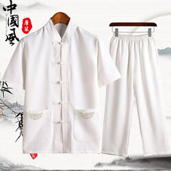 men's short-sleeved summer suit