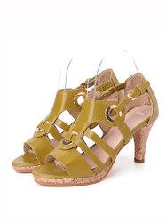 Peep Toe Buckle High Heel Sandals