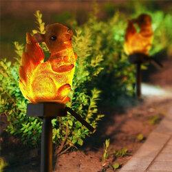 Squirrel Solar Lawn Lamp Garden Decor Light Waterproof