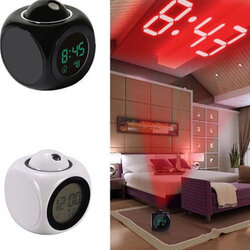 New Multi-function Projection Report Clock Led Colorful Projection Alarm Clock Voice Report Clock Projection Clock