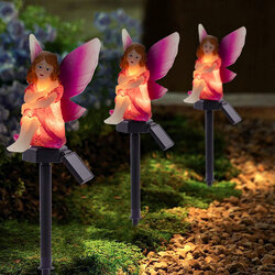 Flower Fairy Solar Landscape Light with Ground