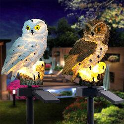 Solar Power LED Owl Lawn Light Home Outdoor Yard