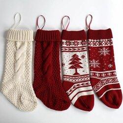 Christmas Tree Snowflake Gift Bag Decorative Socks