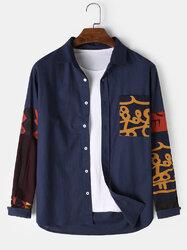 100% Cotton Ethnic Patchwork Print Shirt