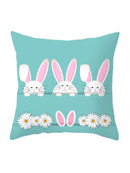 Easter Pillowcase Rabbit Egg Print Cushion Cover