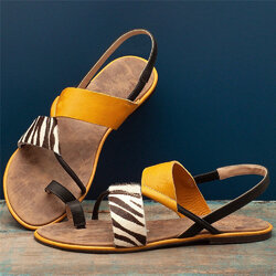 Large Sizes Slip On Clip Toe Flats Sandals