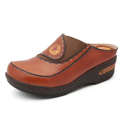 Leather Mules Clogs