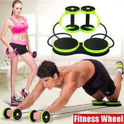 <US Instock> Double Wheel AB Roller Sport Core Fitness Abdominal Exercises Equipment