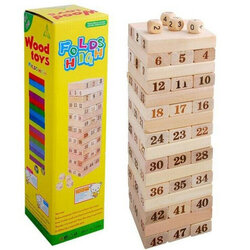 Board Games Domino Tower Game Tree Stacker Wooden Toys