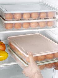 24 Grid Refrigerator Organizer Bins Kitchen Portable Picnic Storage Box Plastic Box Tray