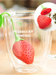 Strawberry Tea Strainer Tea Bags Silicone Loose-leaf Tea Infuser Filter Diffuser Fun Cartoon Tea Accessories