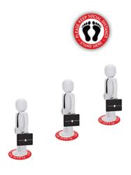 Queue Distance Social Distance Series Crowd Floor Stickers