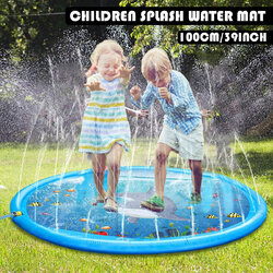 Childrens Water Splash Play Mat Inflatable Spray Water Cushion Summer Kids Play Water Mat