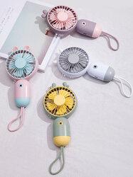 Three-speed USB Charging Cartoon Mini Portable Cute Fun Handheld Pocket Fan