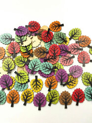50/100 pcs Wooden Buttons Round Resin Button Sewing Craft Buttons for Sewing Knitting Handcraft