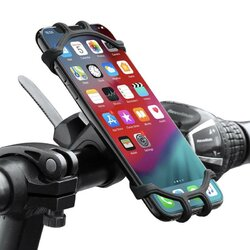 High Quality Silicone Bicycle Phone Holder For iPhone Universal Motorcycle Bike Stand GPS Bracket For 4.0-6.3inch Mobile Phone