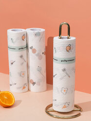 Lazy Rags Household Printing Dish Towels Disposable Wet And Dry Dual-use Dishes To Degrease Scouring Cloth
