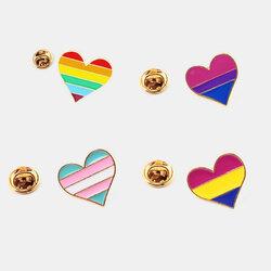 Rainbow Love Women Brooch