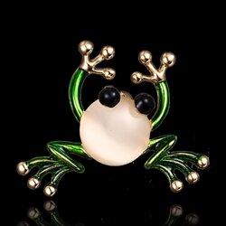 Unisex Green Frog Brooch