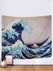 Tapestry Wall Hanging Big Wave Kanagawa Tapestry Art Natural Home Decoration Living Room Bedroom Dormitory Decoration