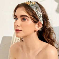 Flower Lace Embroidery Headband