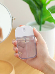 1Pc Transparent Empty Spray Bottles 35ml Plastic Mini Refillable Container Empty Cosmetic Containers Travel Perfume Bottling