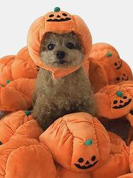 Pet Halloween Pumpkin Hat Teddy Dress Up Dog Cat Party  Accessories