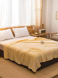 1 Pc 2 Colors Winter Double Thick Warmth Coral Fleece Blanket Office Nap Magic Fleece Blanket