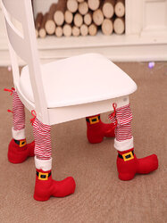 1Pc Decorations Table Leg Covers Home Decoration Dining Table Chair Protective Cover Stool Leg Christmas Chair Cover