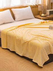 1 Pc Double Thick Warmth Coral Fleece Blanket Comfy Bedding Office Nap Magic Fleece Blanket